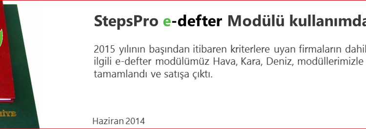 SelectPro Lojistik ERP Yazılımı – edefter kullanımı hakkında