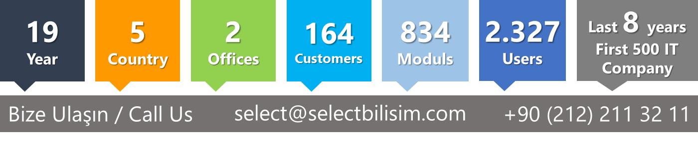 select lojistik yazılım iletişim bilgileri